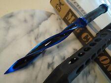 M48 Cyclone Limited Tsunami Blue Combat Tri Dagger Knife Spike UC3163BLA 2Cr13