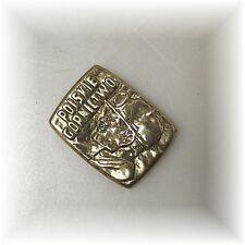 Bergbau Zeche originale alte Plakette Medaille Polen Gewerkschaft (?) Messing