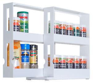 UPP Gewürzregal ausziehbar Medikamenten Regal Küchen Ordnungssystem Bad Orga ...