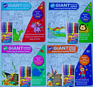 Colouring poster & FREE pens / colour in table cloth, Giant Activity Party kids