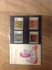 ENGLISH MEDIAEVAL  EMBROIDERY   SET OF BRITISH POST OFFICE  MINT STAMPS