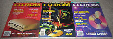 Lot of 3 Vintage 1994 CD-ROM Professional Magazines (Vol. 7, Nos. 4/5/6) - RARE!