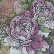 design tower paper napkins rose festive party tissue floral decoration 20pcs 2Y