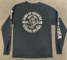 SONS OF ANARCHY Reaper Crew T-Shirt MEN'S MEDIUM Long Sleeve Motorcycle TV Biker