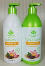 Nature's Gate Jojoba & Sacred Lotus Shampoo + Conditioner For Thin/Dry Hair New