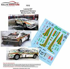 DECALS 1/24 REF 1512 LANCIA 037 RALLY BIASION RALLYE MONTE CARLO 1985 TOTIP WRC