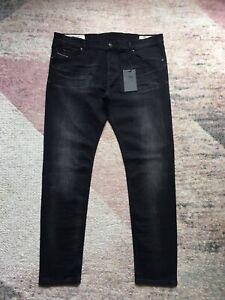 DIESEL TEPPHAR SLIM CARROT 0098B STRETCH Men's W40 L34 Black Jeans