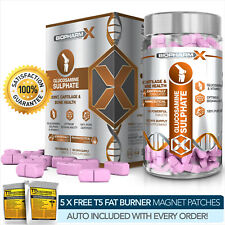 GLUCOSAMINE SULPHATE -STRONGEST PHARMA GRADE -180 PILLS X 1500MG 2KCl JOINT SUPP