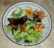Vtg 1986 Red Admiral Plate Butterfly Garden Paul J Sweany Hamilton Collection