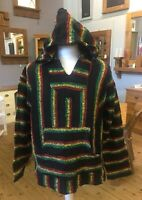 Echo Naturals Baja Hooded Hoodie With Pocket On Front Size Large