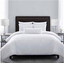 Wamsutta Hotel Triple Baratta Stitch King Comforter Set in White stripe