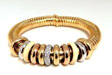 1.00ct Diamonds Ladies Accordion Bangle Bracelet 18 karat Rolling Rings Float