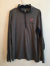 Large Colosseum Men's Penn 1/4 Zip Pullover Gray with Logo