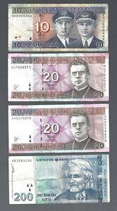 Lithuania 🎇 10, 20, 20 & 200 Litu ✨ Collections & Lots #4245