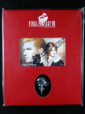 Final Fantasy VIII Squall Seifer Phone Card & Sleeping Lion Heart Pin Square New