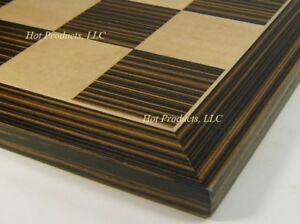 """19 5/8"""" Ebony Black & Maple Wood Large Chess Board"""