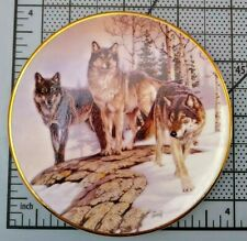 Hamilton Collection by Al Agnew Year Of The Wolf Plate Lords of the Tundra 1998