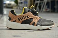 Puma Mens Leather Disc Cage Lux Opt 2 SZ 12 Cork Grey Black Yellow 356410-03