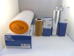 BMW 3 Series 320d 2.0 Diesel Service Kit Oil Air Fuel Filter 2005 to 2007 MAHLE