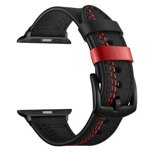 Strap For Apple Watch iWatch 1/2/3/4/5 38/40/42/44mm Leather Watch Band