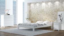 Bett Gästebett Doppelbett Ehebett Bettrahmen 120x200cm Weiß mit Bettgestell