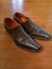 """Men's Guess by Marciano """"Roy"""" Loafers Shoes Brown Leather 10"""