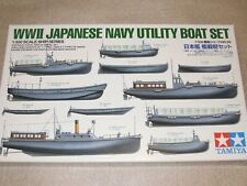 Tamiya 1/350 Japanese Battleship Warship`s Boats Set Model Ship kit #78026