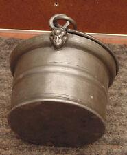 ancien magnifique porte diner petit chaudron bouvier clamecy poterie d étain