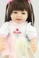 "New 22""Reborn Baby Girl Doll Handmade Vinyl Silicone Lifelike Doll Gift Jessica"