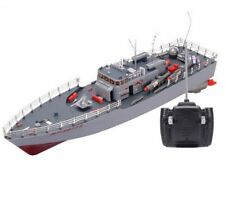RC Boat Missile Destroyer Remote Control Warship Model With Light Electronic Toy