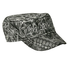 Live Love Ride Sugar Skulls Ladies Cadet Cap hat