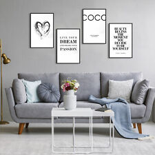 Design POSTER 4er Set mit Bilderrahmen Chanel Mode Wandbild Plakat Druck Passion