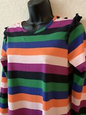 HANNA ANDERSSON GIRLS STRIPED COTTON JERSEY KNIT DRESS SIZE 160 NEW