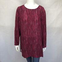 Vintage Diane Von Furstenberg Large Blouse Pink Long Sleeve Silk Top Shirt DVF