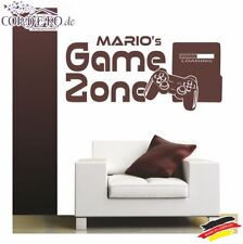 Wandtattoo Game Zone + Wunschname Spieler Gamer Konsole Controller Playstation