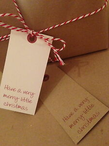 12 Vintage/Retro/Rustic Christmas Tags Label Gift Present Merry Little Christmas