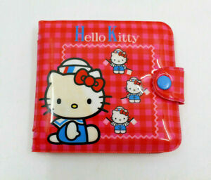Sanrio Hello Kitty Vinly Wallet Red Pink Sailor Flag Vintage By Ellon 1976 2000