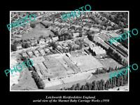 OLD LARGE HISTORIC PHOTO LETCHWORTH HERTFORDSHIRE ENGLAND CARRIAGE WORKS 1950