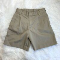 Boys K12 Uniform Khaki Shorts Size 8 Husky Adjustable Waisted Pleated