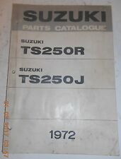 1972 72 SUZUKI TS250R TS 250 R TS250J PARTS CATALOG SHOP SERVICE REPAIR MANUAL