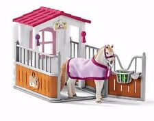 NEW Schleich Pony Horse Club 42368 Stall Lusitano Mare Groom Stable Farm
