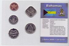 Bahamas - KMS 5 Münzen 1992-2004 - UNC Satz