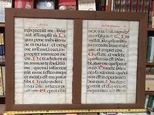 Manuscrito Enmarcado Salmo Hojas - 16th Century español? - pergamino de doble cara