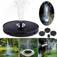 LED Solar Power Floating Bird Bath Water Fountain Pump Garden Outdoor Pond Pool