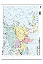 Paq/50 mapas asia politico mudos. ENVÍO URGENTE (ESPAÑA)