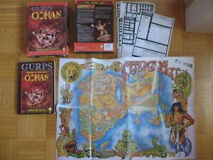 Gurps Conan Box Set - sehr gut erhalten - Komplettregeln / Landkarte / Datenblät