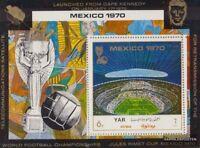 Nordjemen (Arabische Rep.) Block131 (kompl.Ausg.) postfrisch 1970 Fußball-WM `70