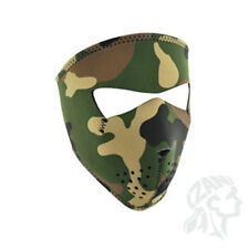 Small Camo Child Size Reversable to Black Neoprene Face Mask Paintball Hunting