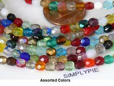 4mm Fire Polished Czech Glass Beads 50 Faceted Choose Color New Arrivals