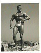 bodybuilder CLARENCE ROSS Bodybuilding AAU  Mr America Muscle Photo B&W